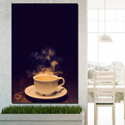 Lust For Latte Cafe And Coffee Canvas Art Print For Wall Decor