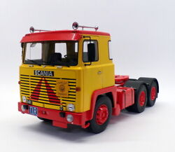 Kk Scale Road Kings 1/18 Rk180015 - 1976 Scania Lbt 141 Truck Cab - Yellow/red