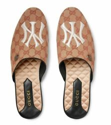 New Auth Gg Supreme Flamel Flat Ny Loafer Mule Slides Menand039s 12.5 / Us 13.5