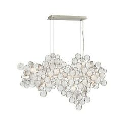Eurofase Trento 12-light Oval Chandelier, Champagne Silver/clear - 34031-018