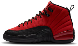 Air Jordan 12 Reverse Flu Game Retro Gs Varsity Red Black 153265-602