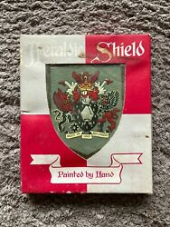 Northern Ireland Council Collectable Hand Painted Heraldry Wall Plaque 1970and039s