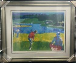 Leroy Neiman Mystic Rock Signed And Numbered Framed Golf Sports