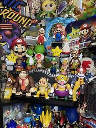 Super Mario And Sonic Figures Lot