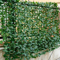Faux Ivy Leaf Decorative Privacy Fence Screen Artificial Hedge Fence Multi Size