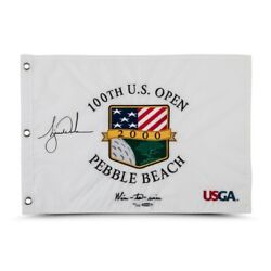 Tiger Woods Signed Autographed 2000 U.s. Open Pin Flag Wire-to-wire /500 Uda