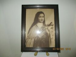 Vintage Saint Therese Of Lisieux Fr Picture Taber Prang Art Co 216 Rare
