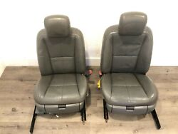 2007_ 2009 Mercedes W221 S550 S600 Front Left Right Leather Seats Seat Gray Oem