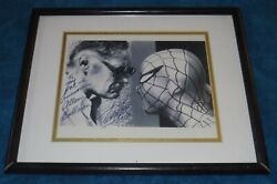Photo Of Stan Lee Facing Spiderman Signed And Dedicated To Allen Bellman