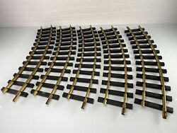 5 Pieces Usa Trains G Scale Brass 16 Curved Radius Track 13 Black Railroad Ties
