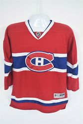 Montreal Canadiens Danny Briere Jersey 48 Reebok Red Youth L/xl Rbk Nhl Hockey