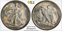 1918 50c Walking Liberty Half Dollar Pcgs Ms 64 Uncirculated Exceptional Coin...