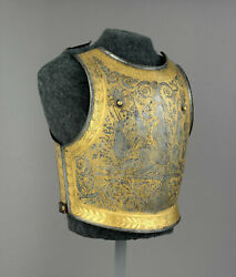 16ga Steel Medieval French Cuirass 19th Century Breastplate And Backplate