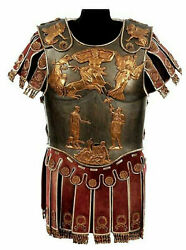 Medieval Roman Muscle Cuirass Armor Knight Breastplate With Skirt And Shoulder
