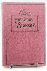 Melodie Sionske Music Of Zion-melodies And Hymns Slovakia Samuel Fabry 1950
