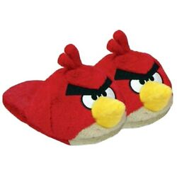 Red Angry Birds House Shoes Men L11-12