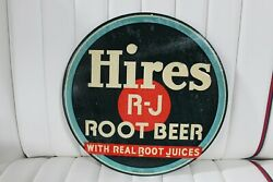 1940s Hires Root Beer Soda Advertising 12 Target Tin Sign Single Sided Canada