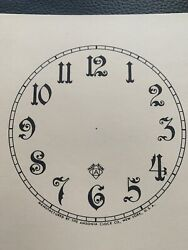 Antique Clock Parts- Ansonia 4-1/2andrdquo Ivory Paper Dial- Arabic- Completely New