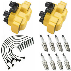 Spark Plug And Racing Engine Ignition Coil And Wireset For Ford Explorer 5.0l V8