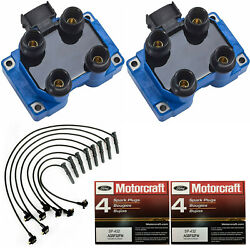 Motorcraft Platinum Spark Plug And Energy Ignition Coil And Wireset For Ford 5.0l V8