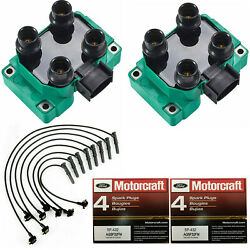 Motorcraft Platinum Spark Plug And Direct Ignition Coil And Wireset For Ford 5.0l V8