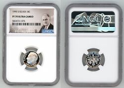 1995 S Silver Roosevelt Dime 10c Ngc Pf 70 Ultra Cameo R10