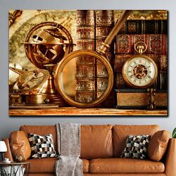 World Explorer Map Antique And Vintage World Maps Canvas Art Print For Wall Deco