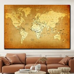 Vintage Map Of The World Antique And Vintage World Maps Canvas Art Print For Wal