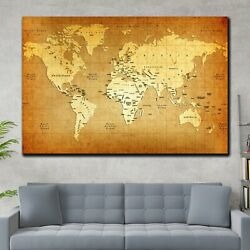 Antique World Map Antique And Vintage World Maps Canvas Art Print For Wall Decor
