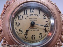 Tt Wilson Building Supplies Co Antique Jewelry Box Advertising Clock Sign Ad Usa