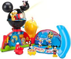 Disney Exclusive Mickey Mouse Clubhouse Playset Donald Minnie Goofy Pluto Figure