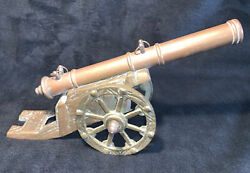 Civil War Period Decorative Model Only Signal Cannon Military Brass And Copper