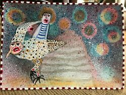 Deb Mell Original Handpainted Plate - For Collectors
