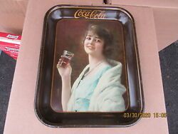 Coca Cola Coke Tray 1923 Orig Flapper Girl American Art Works Exc Not 1973 Repro