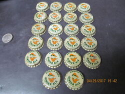 Donald Duck 22 Ginger Ale Bottle Caps 1940s-50s New Old Stock Very Rare