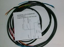 Electric System Wiring Mondial Champion 125 Without Battery + Knitting