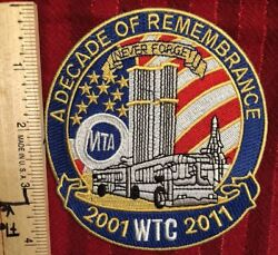 A Decade Of Remembrance 911 Patch