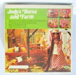 Vintage Ideal Toys Jody's Horse And Farm Playset In Box, Jody Doll And Horse, 1975