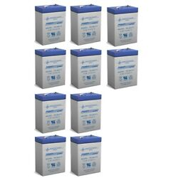 Power-sonic 6v 4.5ah Battery For Orion Research Electrolyte Analyzer - 10 Pack
