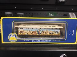 Lot Of Ahm Ho Scale Train Oldtime Barnum, Old Time Passenger Cars. 3 Cars