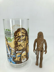 1977 Burger King Star Wars Cup With Chewbacca And Vintage 1977 Chewbacca Action