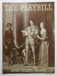 Pastoral Playbill Opening Night Henry Millers Theatre Ny John Banner 1939