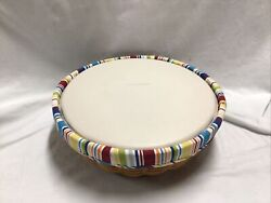2005 Longaberger Serve Around Basket Combo With Deviled Egg Plate And Lid