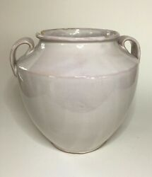 Antique French White With Pink Hue Confit Jar Pot19th Century