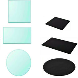 Round/rectangular Tempered Glass Table Top Dining Table Protective Cover 11sizes