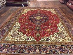 Genuine Hand Knotted Vintage Classic Area Rug Traditional Floral 8'1x11'1,60