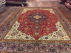 Genuine Hand Knotted Vintage Classic Area Rug Traditional Floral 8andrsquo1x11andrsquo160