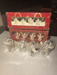 New Home For The Holidays Silver Plated Angel Christmas Ornaments 2 Sets