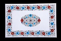 3and039x2and039 Table Top Inlay Marble Pietra Dura Art Coffee Office With Antique Work U