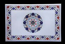 3and039x2and039 Table Top Inlay Marble Pietra Dura Art Coffee Design Antique Home A14